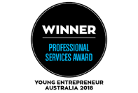 2018 Winner 2018 Melbourne Young Entrepreneur – Professional Services, Young Entrepreneurs of the Year (Business News Australia)